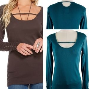 Chaser Snap Cuff Long Sleeve Top